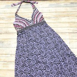 ATHLETA Pack Anywhere Halter Printed Dress Sz 4